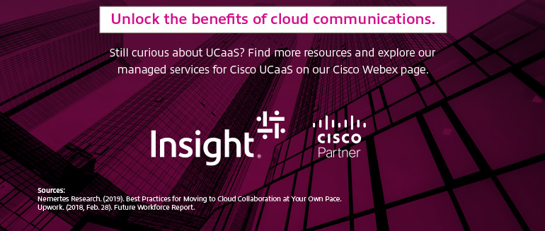 Last part of 5 Benefits Of Cloud Communications, Why UCaaS? infographic