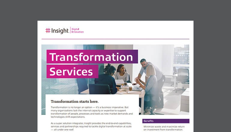 cover of Insight Transformation Services datasheet available to download below