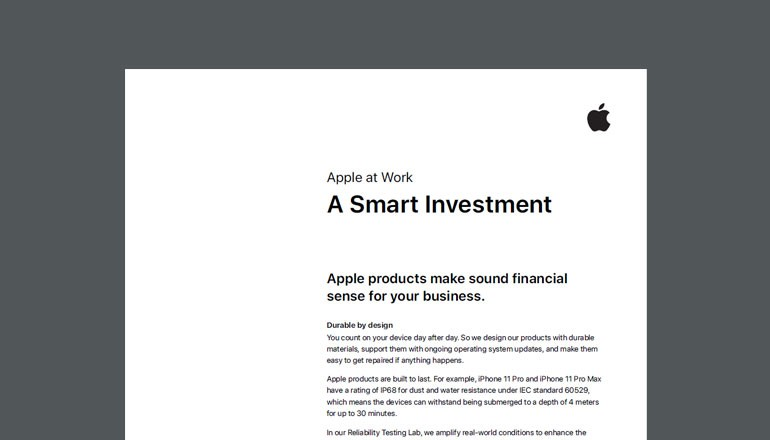 Apple at Work Smart Investment overview thumbnail
