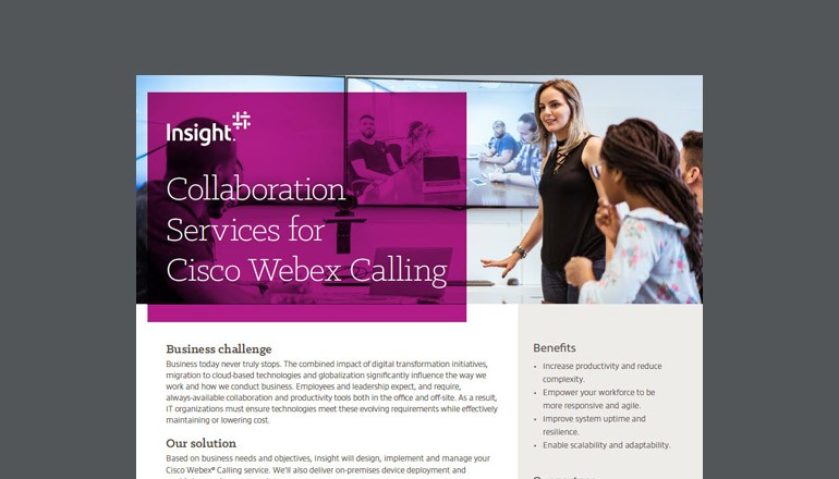 Collaboration Services for Cisco Webex Calling cover thumbnail