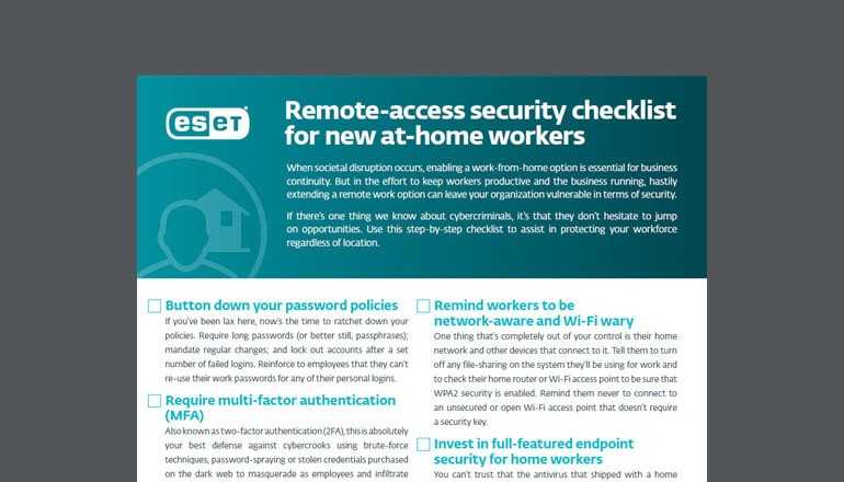 Remote-Access Security Checklist  thumbnail