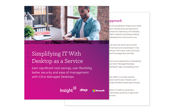 Cover of simplifying IT with desktop as a service ebook