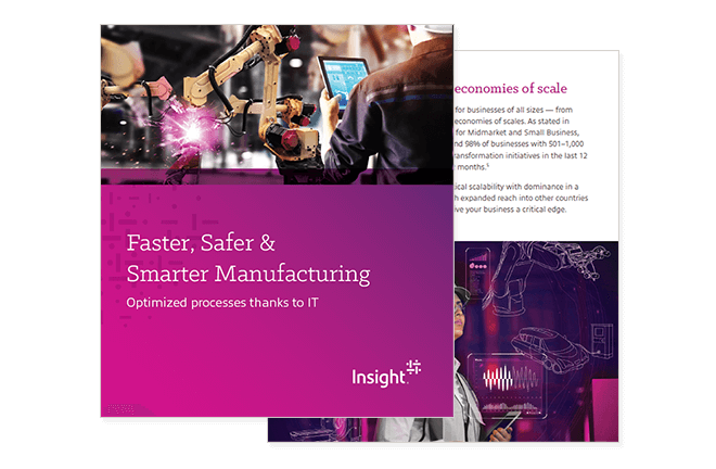 Cover of Insight's Industry 4.0 & the IIoT Add a New Level to Connectivity in Manufacturing ebook